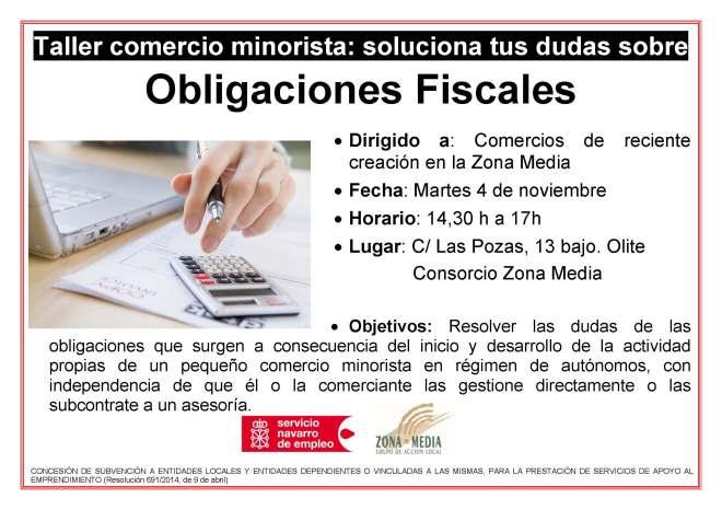 Cartel Curso Obligaciones Fiscales